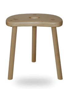 Tabouret de Vacher Traditionnel en bois de sapin massif vernis naturel