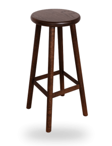 tabouret de bar rustique