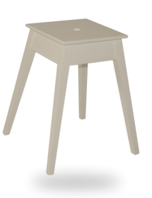 tabouret-carre-empilable-laque blanche