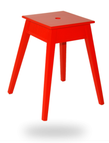tabouret-carre-empilable-rouge