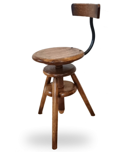 choisissez le tabouret traditionnel ou design en bois fabriqu en france tabouret bois vis. Black Bedroom Furniture Sets. Home Design Ideas