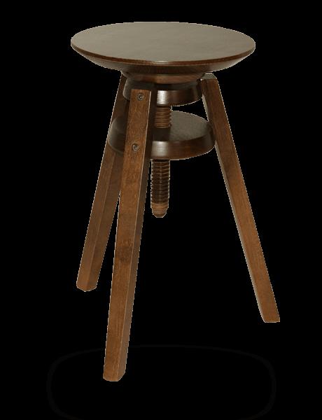 Tabouret à vis contemporain en bois réglable en hauteur ~ Tabouret Vis Bois